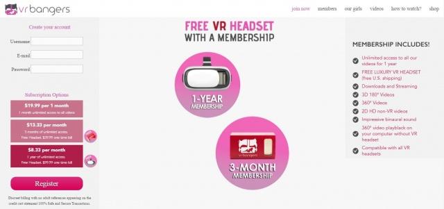 VR Bangers Gratis VR Brillen